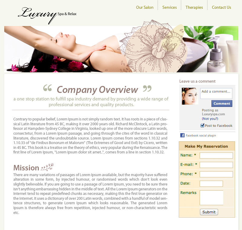 Company Overview Page